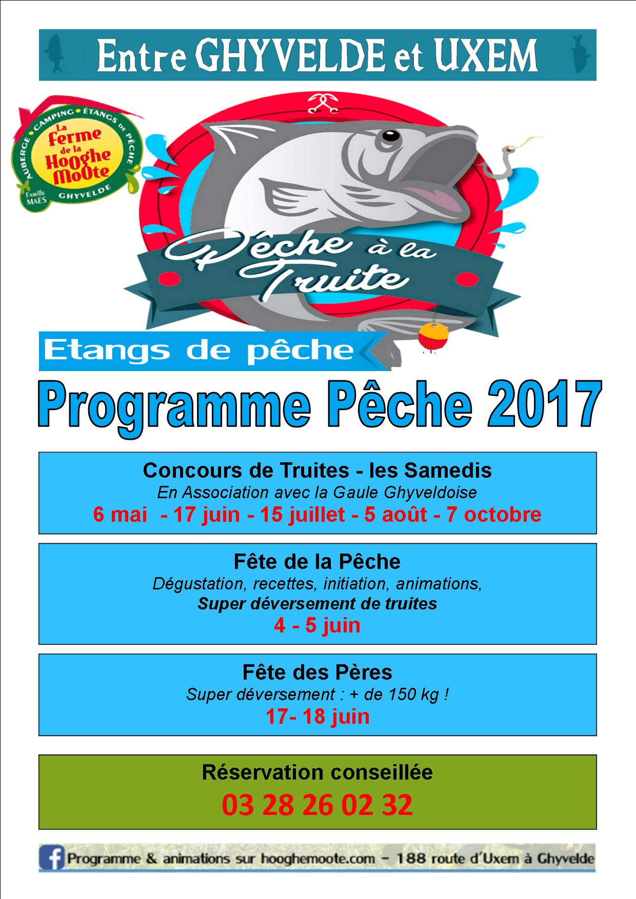Programme pêche 2017 Campings